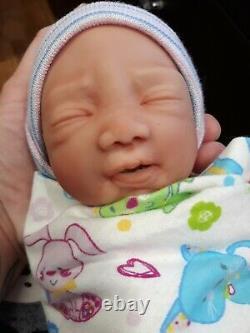 12 Micro Preemie Full Body Silicone Baby Boy Doll Oliver