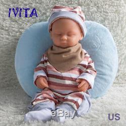 15 1.8KG Lifelike Full Body Soft Silicone Reborn Baby Girl Dolls Floppy Infant