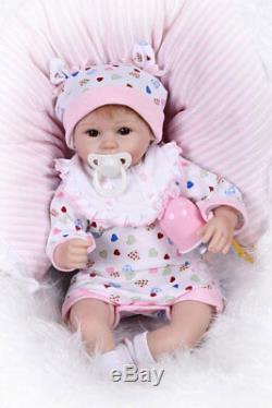 16 Lifelike Cute Reborn Baby Soft Silicone Vinyl Girl Baby Doll Handmade
