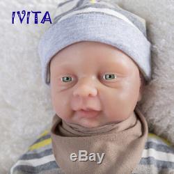 18'' Full Body Silicone Reborn Baby GIRL Doll Cute Infant Green Eyes Gift