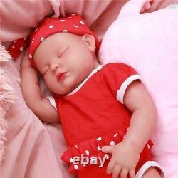 18 Handmade Sleeping Baby Girl Full Body Waterproof Soft Silicone Newborn Doll