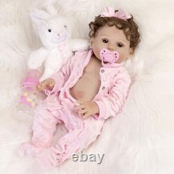 18 Reborn Baby Dolls Full Body Silicone Vinyl Newborn Babies Toy Girl Doll Gift