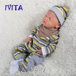 18Handmade Sleeping Baby Realistic Silicone Reborn Baby Boys Doll Special sales