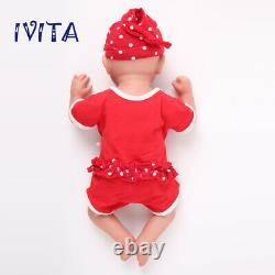 18Lifelike Eyes Closed Girl Full Silicone Rebirth Baby Waterproof Doll Popular