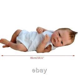 18inch Reborn Baby Dolls Silicone Body Doll Newborn Doll Full Handmade Kids Gift