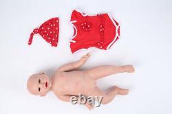 19 Solid Silicone Reborn Baby Girl Dolls Newborn Lifelike Realistic Doll Gifts