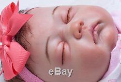 20 100% Handmade Girl doll Reborn Doll Newborn Lifelike Soft Vinyl silicone