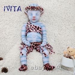 20'' Sleeping Avatar Baby Girl Full Body Waterproof Silicone Reborn Doll Gifts