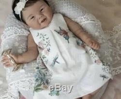 21 Full Body Solid Silicone Asian Baby Girl Doll AHN
