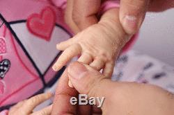 21 Lifelike SOFT SOLID silicone Reborn Girl Baby Realistic Newborn Baby Doll