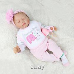 22 Handmade Reborn Baby Dolls Lifelike Newborn Silicone Vinyl Girl Doll Gifts
