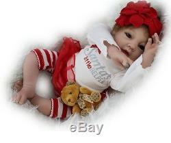 22'' Lifelike Baby Doll Soft Silicone Newborn Reborn Dolls&clothes Kids toy Gift
