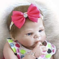 22 Realistic Reborn Baby Dolls Full Body Vinyl Silicone Girl Doll Newborn Bath