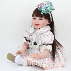 22 Reborn Baby Dolls Real Life Soft Vinyl Silicone Baby Girl Doll +Clothes
