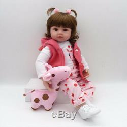 22'' Reborn Handmade Lifelike Newborn Girl Doll Silicone Vinyl Baby Dolls Gift