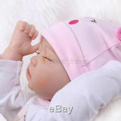 22 Reborn Toddler Dolls Handmade Lifelike Baby Solid Soft Silicone Vinyl Doll