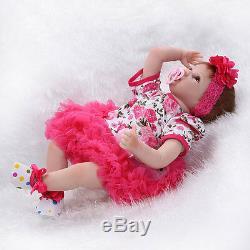 22 Toddler Reborn Lifelike Baby Girl Doll Silicone Vinyl Reborn Newborn Dolls