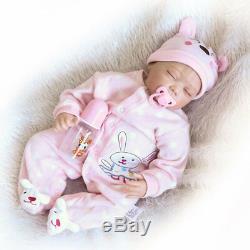 22Handmade Lifelike Baby Girl Doll Silicone Vinyl Reborn Newborn Dolls