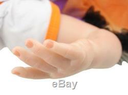 22Handmade Realistic Reborn Baby Newborn Lifelike Soft Vinyl silicone Girl Doll