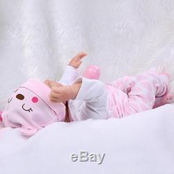 22Realistic Handmade Reborn Baby Newborn Lifelike Soft Vinyl silicone Girl Doll