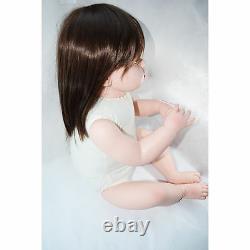 28'' Handmade Silicone Vinyl Reborn Baby Girl Toddler Doll Lifelike Bebe Newborn