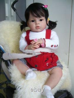 28'' Reborn Toddler Baby Dolls Handmade Lifelike Naked Girl Doll Big
