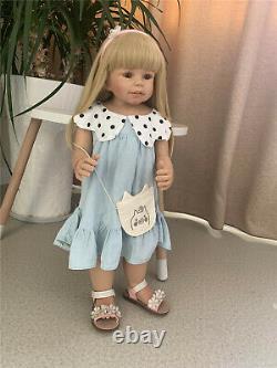 28 inch Reborn Toddler Girls Full Body Vinyl Toys Reborn Baby Dolls Can Stand