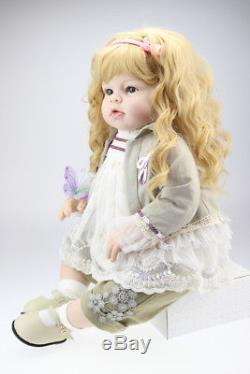28 silicione vinyl reborn baby doll girl toddler Arianna created by Reva Schick