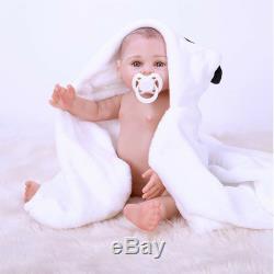 43cm Full Body Reborn Baby Doll Silicone Vinyl Newborn Girl Anatomically Correct