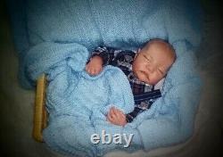 48CM reborn Levi premie baby newborn doll lifelike boy lifelike realsoft touch