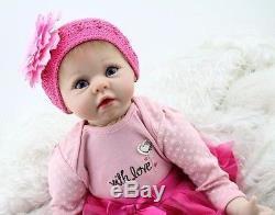 55cm/22 Handmade Reborn Baby Doll Newborn Lifelike Dolls Silicone Vinyl Girl
