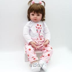 55cm Silikon Lebensecht Mädchen Reborn Baby Puppe Babypuppe mit Kleider + Gifts