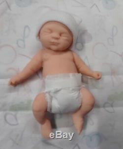 7 Unpainted Micro Preemie Full Body Silicone Baby Boy Doll Gabriel