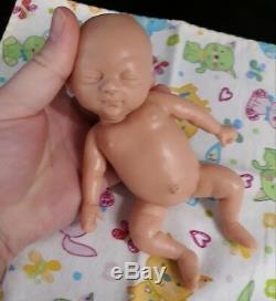 7 Unpainted Micro Preemie Full Body Silicone Baby Girl Doll Tobi