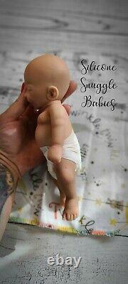 8 Micro Preemie Full Body Silicone Baby Girl Doll Izzy