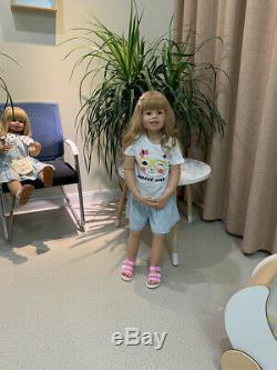 98CM Real Big Size Reborn Toddler Dolls Realistic Child Dolls Full Vinyl Girl