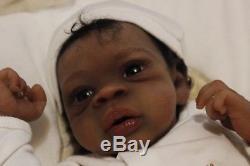 AA/Ethnic/Biracial Solid Silicone newborn baby boy Asriel by Jorja Pigott