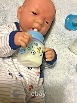 AWW! BABY BOY DREAMER! Preemie Life Like Reborn Pacifier Doll + Extras