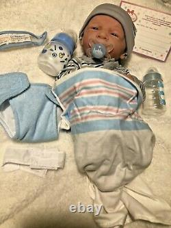 AWW! BABY BOY Snuggle! Preemie Life Like Reborn Pacifier Doll + Extras