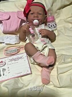 AWW! It's Baby GIRL! Berenguer Life Like Reborn Preemie Pacifier Doll +Extras