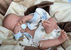AWW Top Dog! Baby Boy PREEMIE Berenguer Life Like Reborn Pacifier Doll +Extras