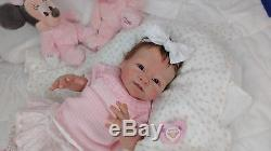 (Alexandra's Babies) FULL BODY SILICONE REBORN BABY GIRL SIENNA TATYANA BURDEN