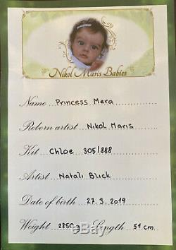 Amazing very rare reborn baby doll Chloe by Natali Blick Sold out LE