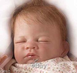 Ashton Drake Hush lifelike Breathing Baby Doll hand-applied hair