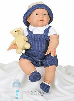 Baby Boy Doll Berenguer 18 Real Alive Soft Vinyl Silicone Preemie Life Like