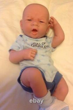 Baby Boy! Precious Preemie 14 Reborn Lifelike First Yawn Berenguer Doll W Extras