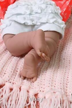 Baby Girl Smiling Doll Real Reborn Berenguer 15 Inches Vinyl Silicone Lifelike