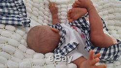Bald Aa Bi Racial Ethnic Soft Silicone Vinyl Reborn Baby Doll / Sunbeambabies