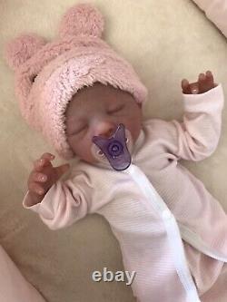 Beautiful Full Body Silicone Baby Girl Doll By Maribel Valles