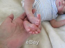Beautiful reborn Baby Boy Aspen awake